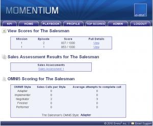 Salesman Scores